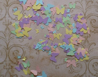 125 Tiny Butterfly / Butterflies / Punchies / Shapes made from Pastel Cardstock 4 Crafts Mobiles Wall Hanging Murals Baby Crafts