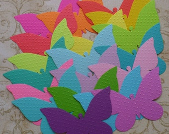 19 Embossed Butterfly / Butterflies - Sizzix  Die Cut pcs Bright colors cardstock paper for Photo Shoots Weddings Showers