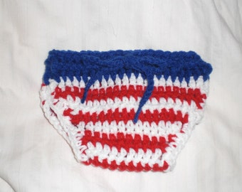READY Baby Boy - Baby Girl - Baby 4th Of July Diaper Cover - Celebrate with Red, white and Blue