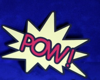 POW! Comic Book Themed Die Cut - Nerd / Geek Craft Accessory for Scrapbooking / Card Making