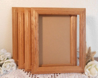 Vintage Wood Frame 8 x 10 Golden Brown Wood Wooden Picture Photo Rustic Eco Friendly Country Cottage Natural Home Decor Wedding Decoration