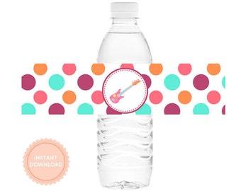 INSTANT DOWNLOAD Rockstar Water Bottle Labels (Rockstar Water Bottle Wraps, Rockstar Drink Labels)