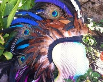 """Customizable Feather Mohawk / Headdress - """"Julianna"""" customizable"""