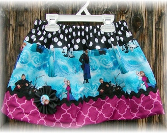 Girls Skirt...Frozen Sisters..Available in 0-12 months, 1/2, 3/4, 5/6, 7/8, 9/10 Bigger Sizes Available