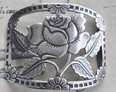 Rose Bracelet Brass Base, Sterling Silver Finish