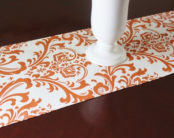 Orange Table Runner Table Cloth Wedding Runner Buffet Runner Premier Prints Sweet Potato Traditions