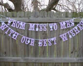 From Miss To Mrs Banner, Engagement Party Banner, Bridal Shower Decor, Soon To Be, Bridal Tea Party Banner, Bridal Garden Party