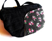 Belt bag/belt pack/hip bag/ fanny pack/ waist bag/ waist purse/woman bag/Boho bag/ pink roses bag