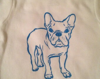 French Bulldog Onesie - Blue
