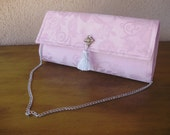 Pale Pink Clutch--Pink Placemat Bag