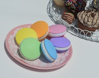 Pretend Bakery French Macaroon Pretend Food Choice of 3