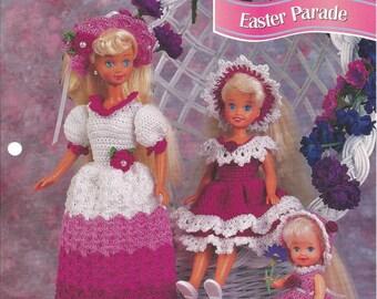 Crochet Pattern Crochet Barbie Doll Pattern Easter Parade