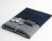 Macbook Pro 2016 case, Macbook retina 13 inch sleeve, blue, with pocket