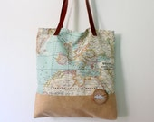 Bag world map camel