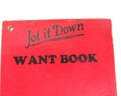 Red Note Pad Book Advertising Paper List Jot it Down Want Book