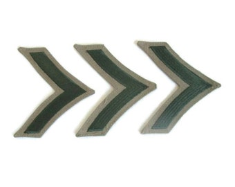Chevron Stripes Patch Set Military Stripes Epaulets Sew On Patches