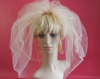 Bubble Wedding Veil,Bridal Bubble Veil, Champagne Bridal Veil,Bridal Veil, Wedding Veil