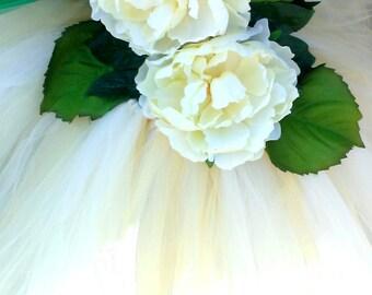 Forest Queen Fairy tutu dress for weddings,flower girls,birthdays, dress up,halloween