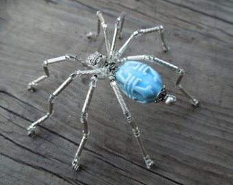 Spider figurine - hand beaded Spider decoration - Legend of the Christmas Spider gift, awesome Beaded holiday Ornament - 1 Spider