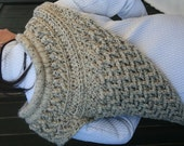 Crochet Cowl In Oatmeal Marble Katniss Cowl Inspired One Size Rustic Crossbody Shawl Wrap Scarf