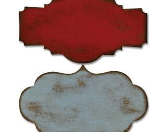Tim Holtz Alterations Bigz Die or Die Cuts  STYLED LABELS Movers and Shapers  656642  frames, tags