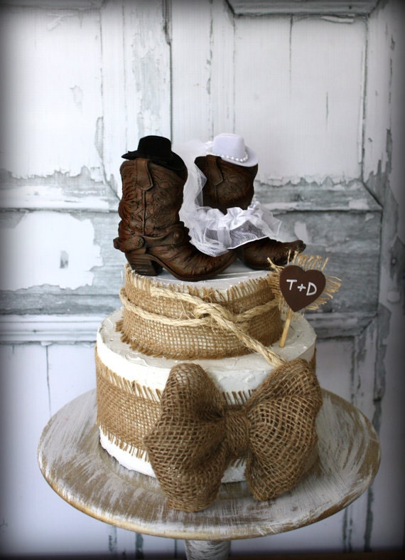 rustic wedding cake toppers etsy cowboy boots wedding cake topper rustic wedding western etsy 19584