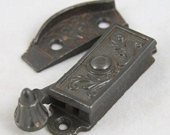 Ornate Victorian window locks