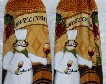 Set of Welcoming Chefs Kitchen Towels