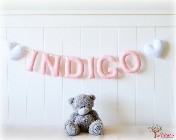 Etsy Personalized Wall Decor : Items similar to personalized felt name banner wall art