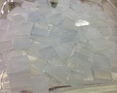 "100 3/8"" WINTER WONDERLAND MOTTLED Stained Glass Mosaic Tile Ice3"