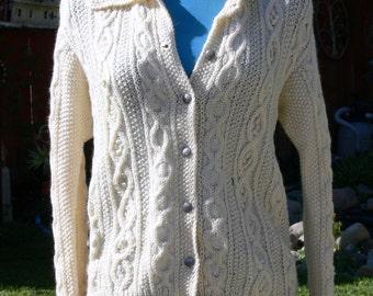 cream sweater size small