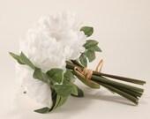 White Peony Bouquet - Silk Flowers - Wedding Bridal - tossing bouquet - wedding, bridal, party, bridesmaids