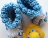 Pattern for Adorable Crocheted Baby Booties (PDF pattern)