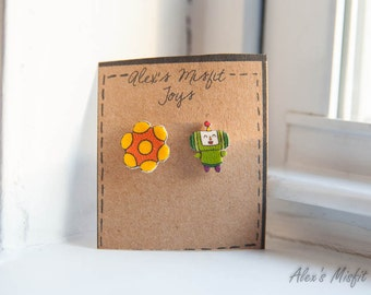 Katamari Damacy Prince and Katamari Earrings