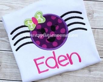 Custom Spider Applique shirt - Halloween Shirt