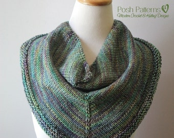 Knitting PATTERN - Triangle Scarf Pattern - Knit Scarf Pattern - Cowl Knitting Pattern - Knitting Patterns - Shawl Pattern - PDF 370