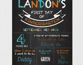 First Day of School Sign, Chalkboard First Day of School, Back to School Sign, Personalized First Day of School Chalkboard, Any Grade