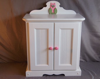 Doll Armoire for American girl doll and 18 inch dolls Handmade