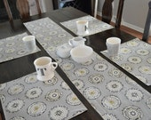 The sun's out modern circles 72 inch table runner