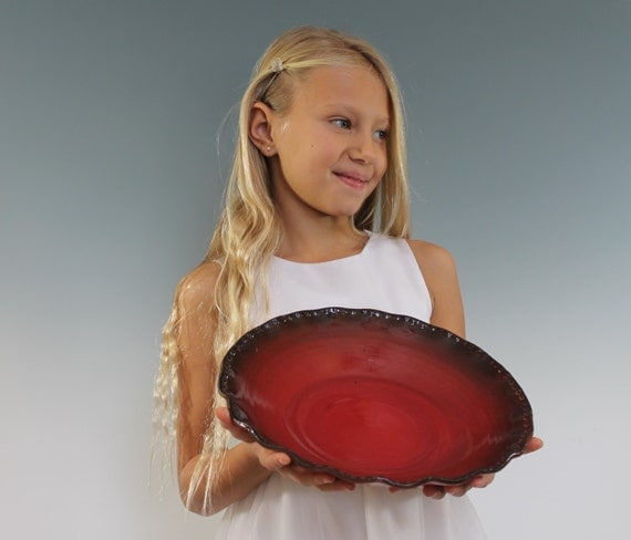 Red Ceramic Bowl - Ready to ship