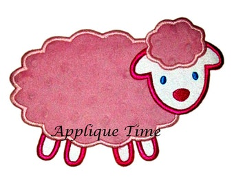 Instant Download Fluffy Lamb Machine Embroidery Applique Design 4x4, 5x7 and 6x10