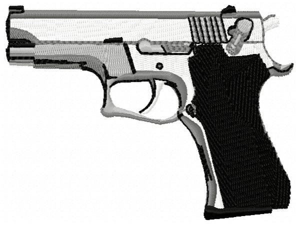 Pistol embroidery design instant download