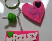 Polymer clay key chain,  special custom order