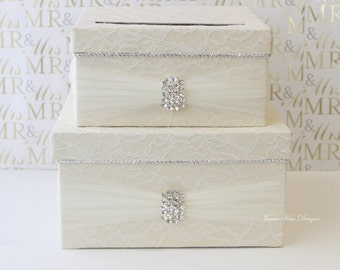 Laced Wedding Card Box Money Box - custom made to order