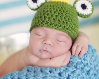 Newborn Boy Frog Prince Hat- Made to Order