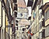 Rainy Day in Florence,Fine Art Photograph, Rain, Umbrella, Italian Kitchen,Color, Rustic, Romance, Travel, Europe, Fashion,Streets of Italy