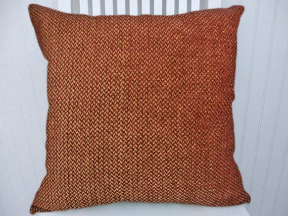 Chenille Throw Pillow Covers : Red Chenille Decorative Pillow Cover 18x18 by CodyandCooperDesigns