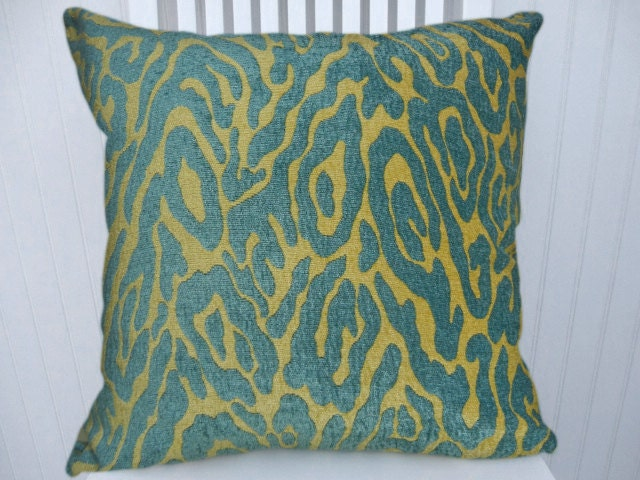 Chenille Throw Pillow Covers : Aqua Chenille Pillow Cover Decorative Throw Pillow Cover