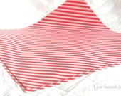 12 Red Stripe WAX PAPER sheets-Pink Lemonade party shop EXCLUSIVE-basket liners-food safe