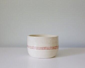 Hand Thrown Porcelain Pot